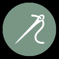 Silhouette einer Nadel